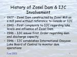 history of zosel dam ijc involvement