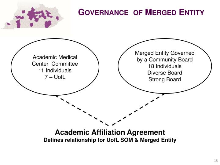 Governance  of Merged Entity