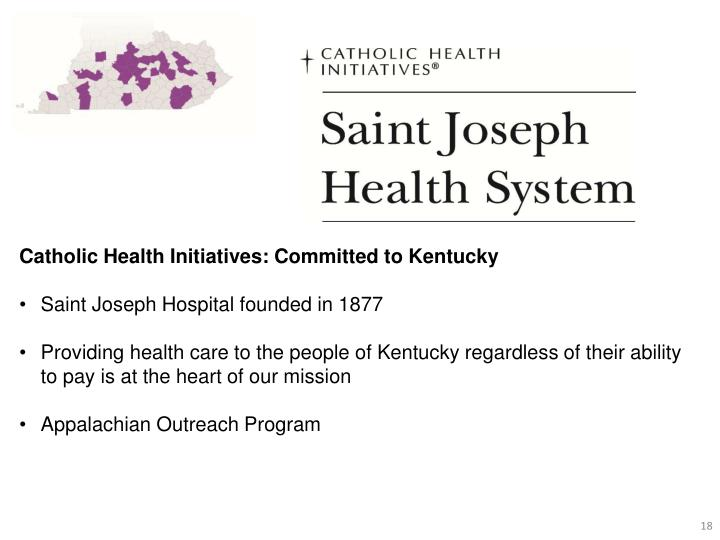 Catholic Health Initiatives: Committed to Kentucky