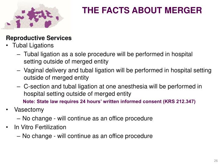 THE FACTS ABOUT MERGER