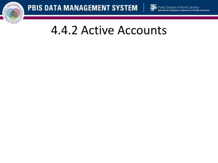 4.4.2 Active Accounts