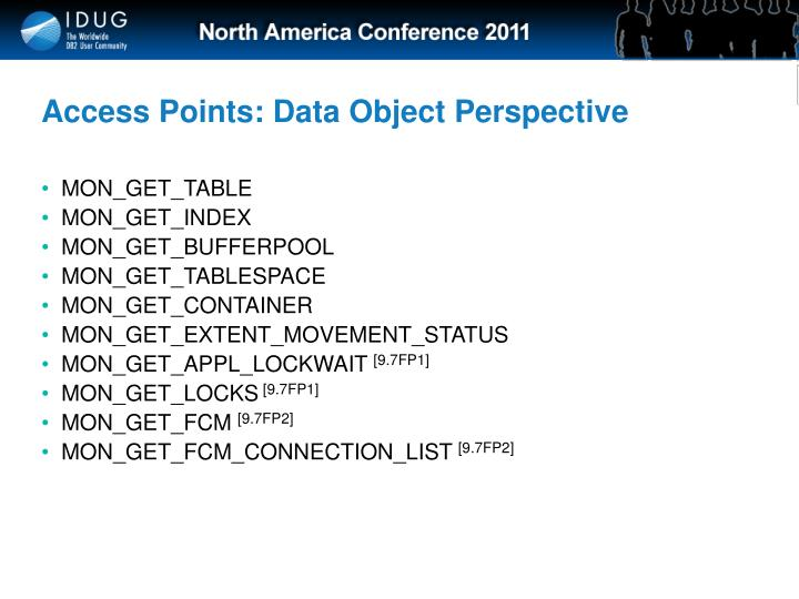 Access Points: Data Object Perspective