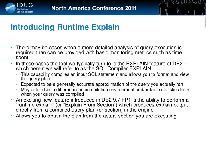 Introducing Runtime Explain