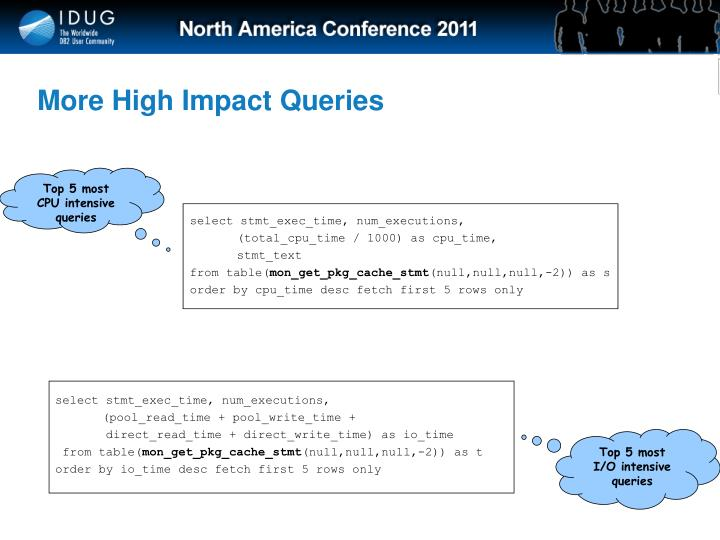 More High Impact Queries