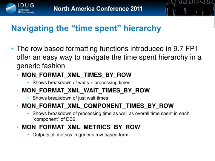 "Navigating the ""time spent"" hierarchy"