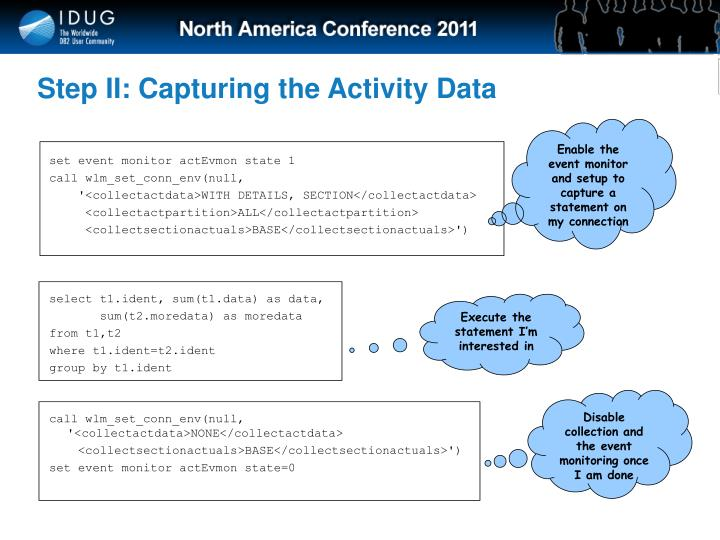Step II: Capturing the Activity Data