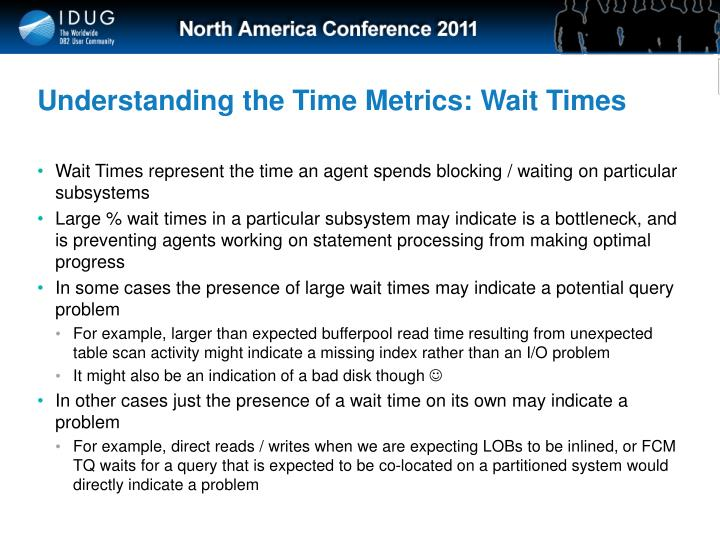 Understanding the Time Metrics: Wait Times