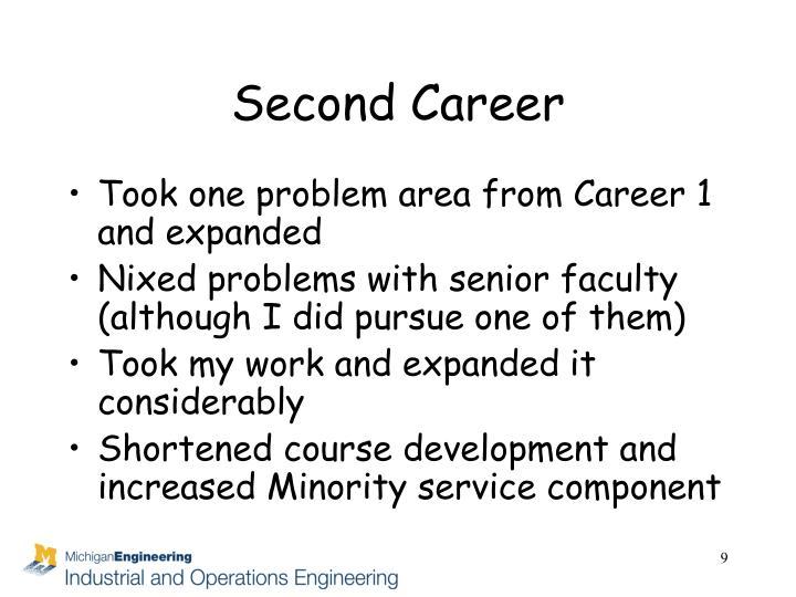 Second Career