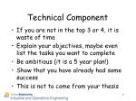 technical component