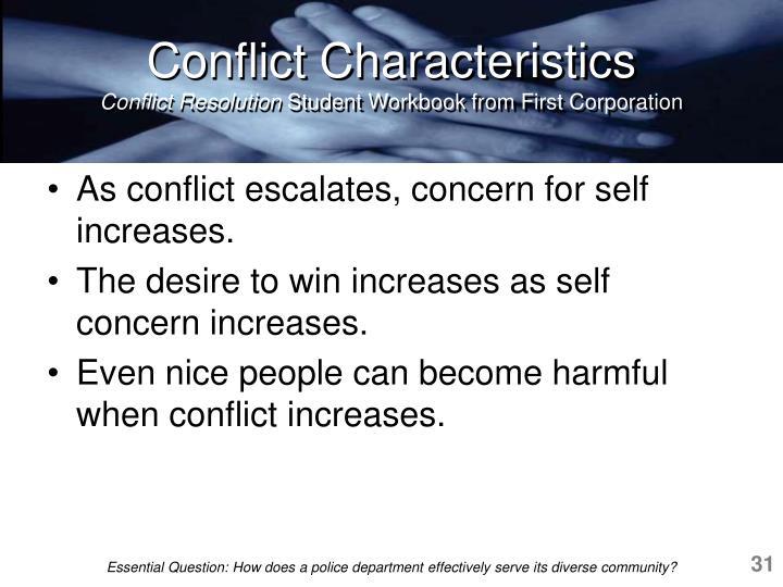 Conflict Characteristics
