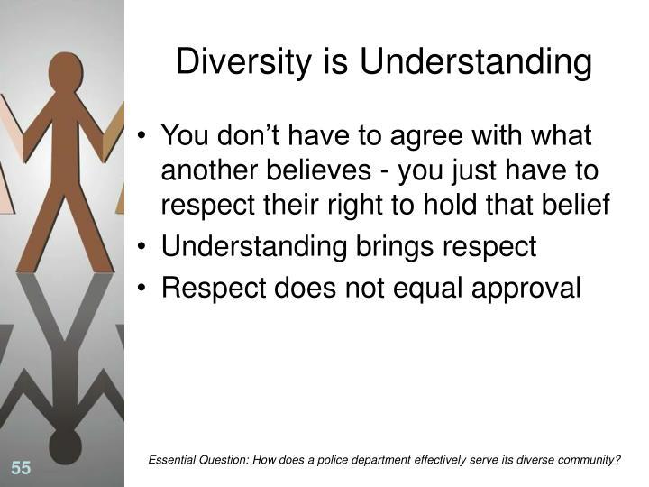 Diversity is Understanding