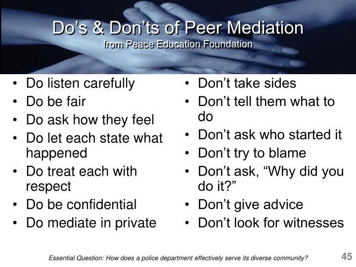 Do listen carefully