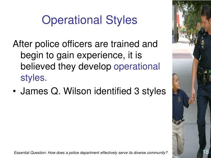 Operational Styles