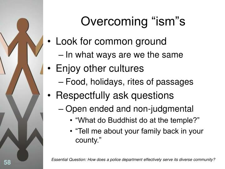 "Overcoming ""ism""s"