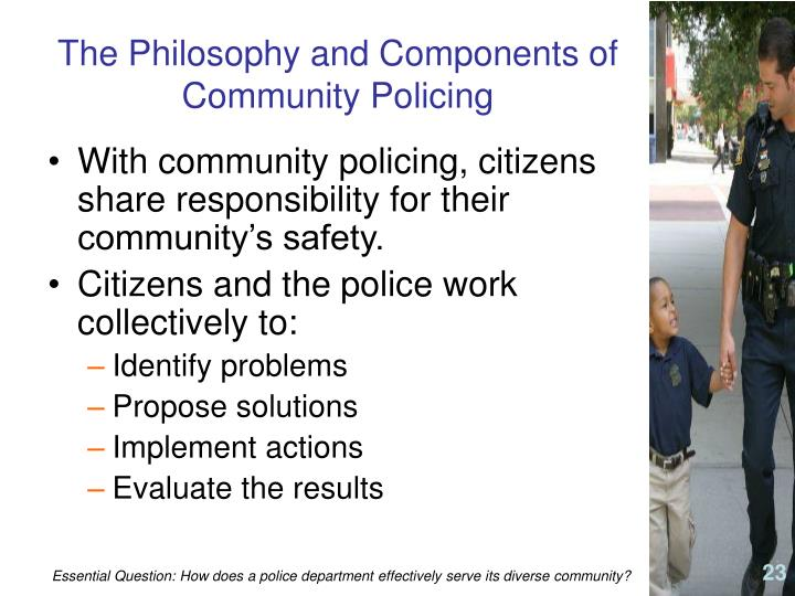 The Philosophy and Components of Community Policing
