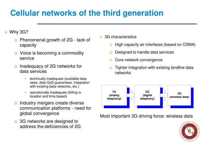 Cellular networks of the third generation