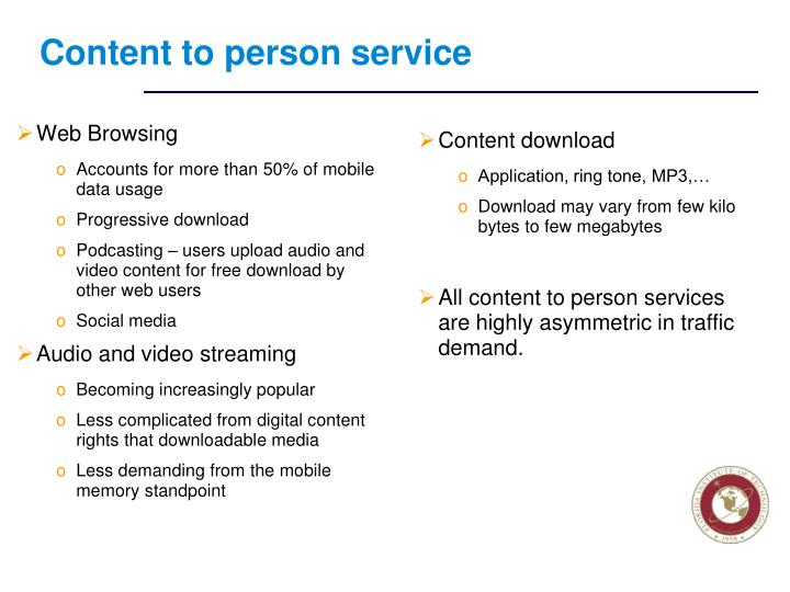 Content to person service
