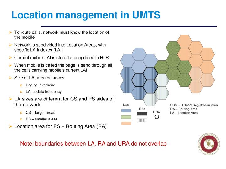Location management in UMTS