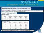 aip sup sample 1 select information that is in the scope of the trial