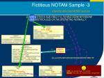 fictitious notam sample 3 identify affected aixm feature