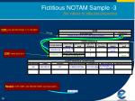 fictitious notam sample 3 set values to affected properties