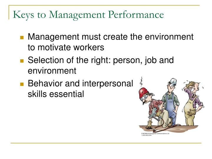 Keys to management performance