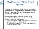 epa proposed clean reset approach