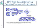 hpv risk based screening decision process components