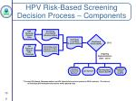 hpv risk based screening decision process components1
