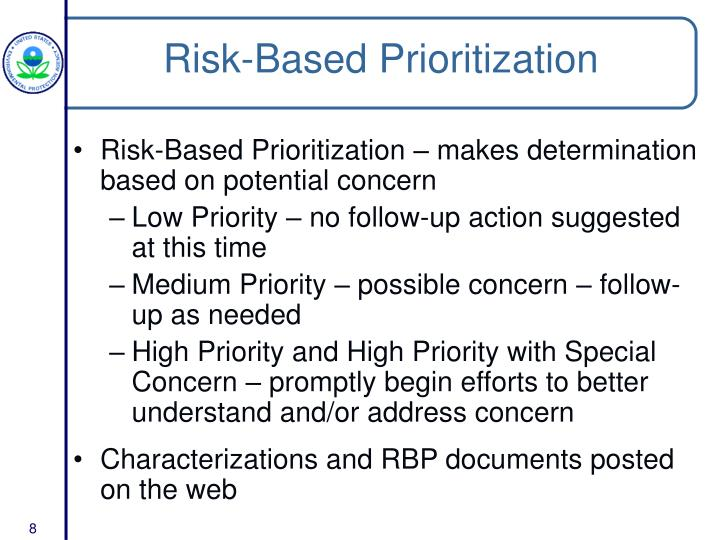 Risk-Based Prioritization