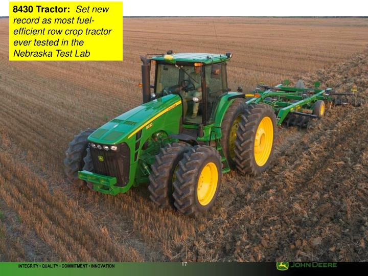 8430 Tractor: