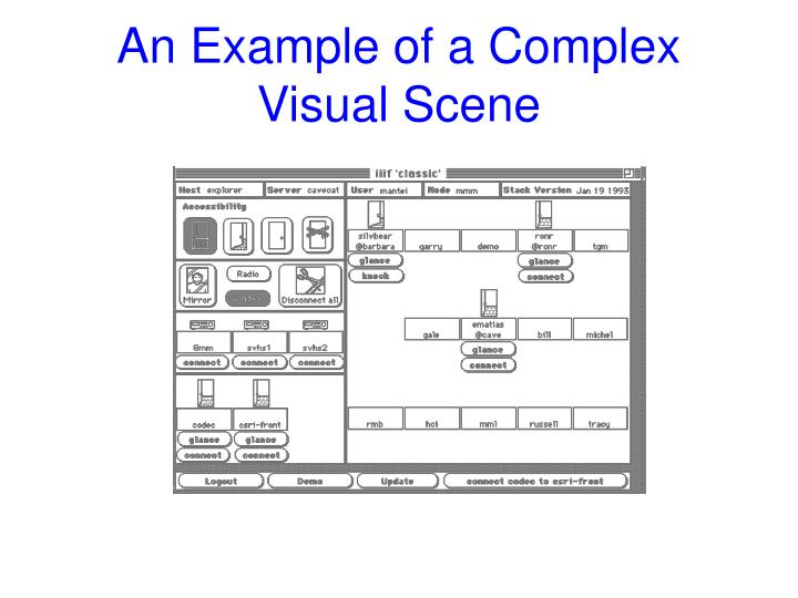 An Example of a Complex Visual Scene