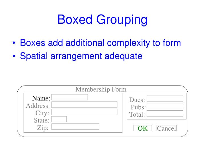 Boxed Grouping