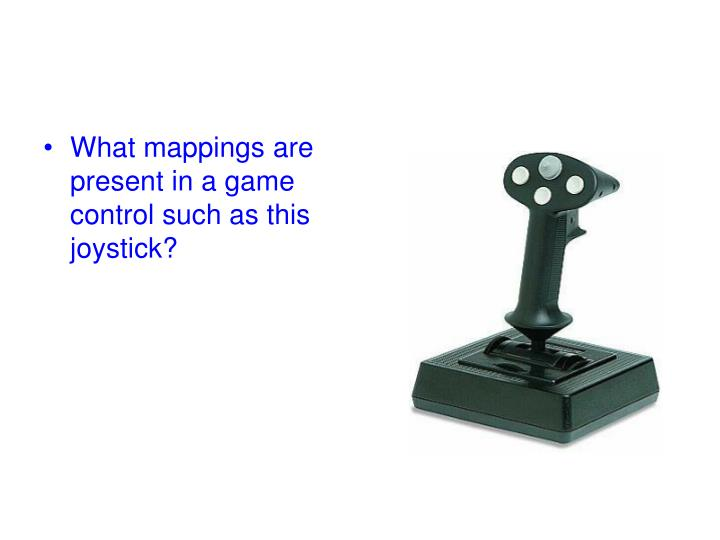 What mappings are present in a game control such as this joystick?
