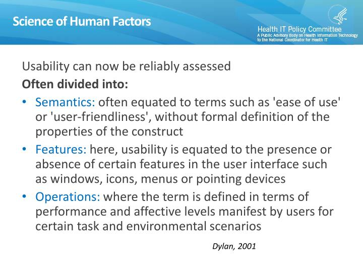 Science of Human Factors