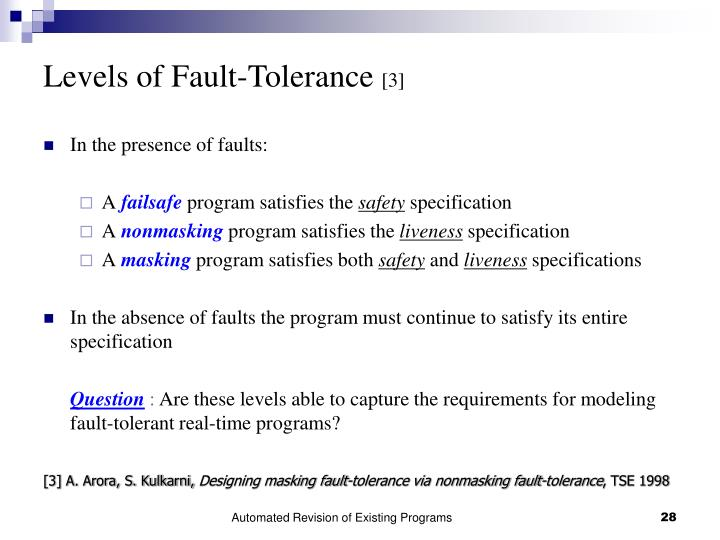 Levels of Fault-Tolerance
