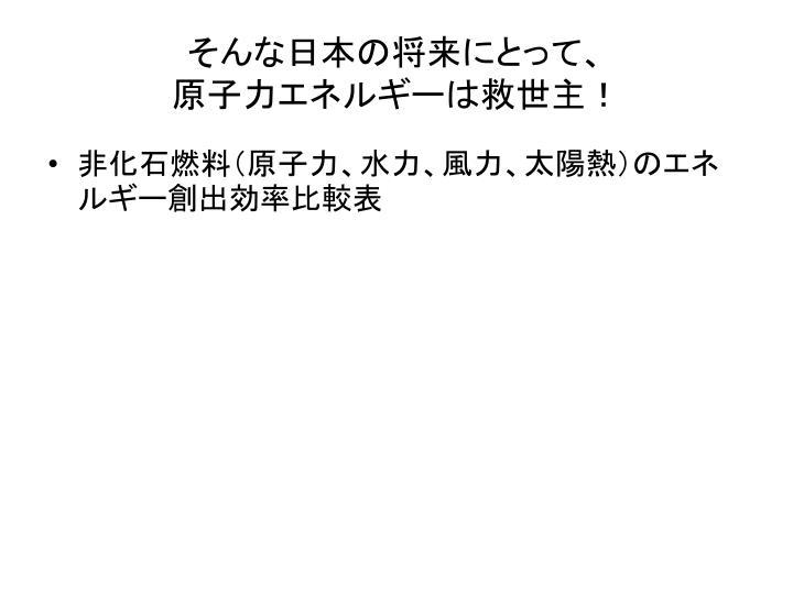 そんな日本の将来にとって、