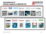 commitment of market leaders to sercos iii