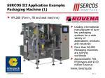 sercos iii application example packaging machine 1
