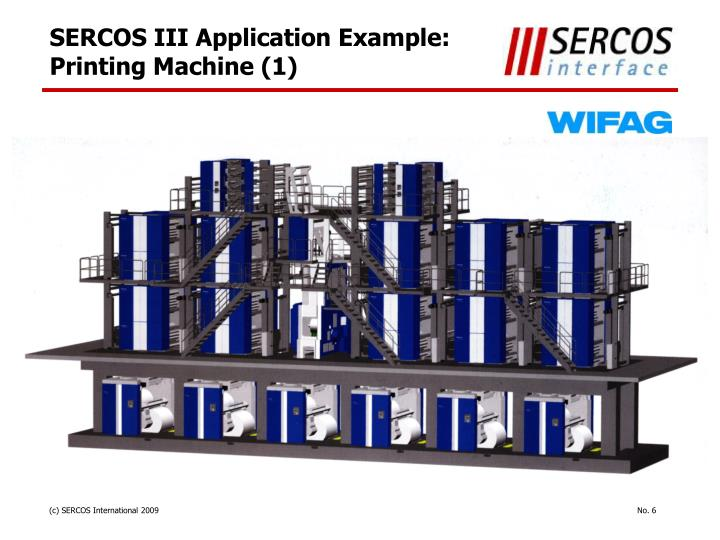 SERCOS III Application Example: