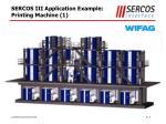 sercos iii application example printing machine 1