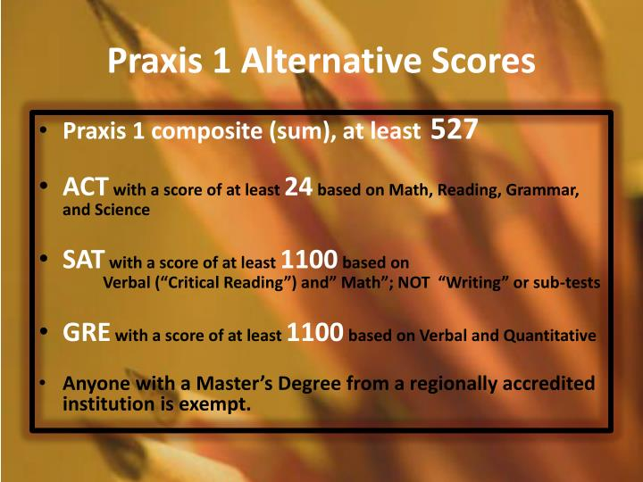 Praxis 1 Alternative