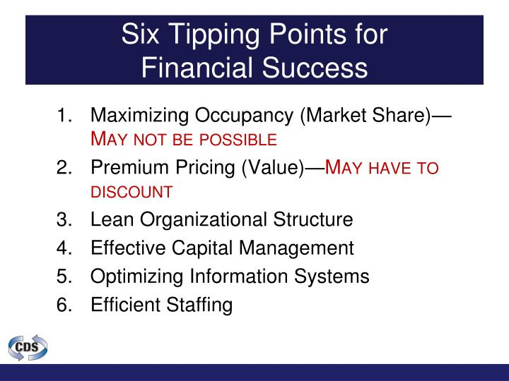 Six Tipping Points for