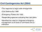 civil contingencies act 2004