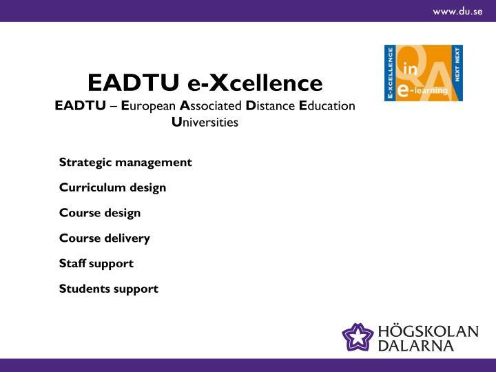EADTU e-Xcellence