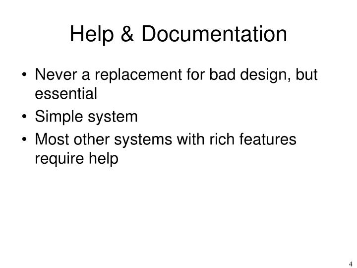 Help & Documentation