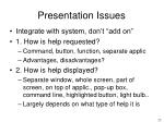 presentation issues