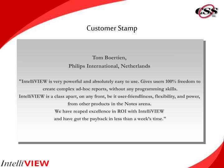 Customer Stamp