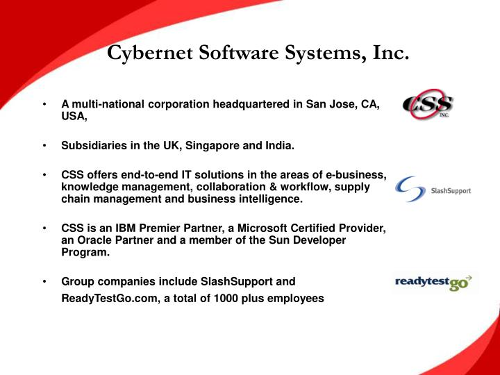 Cybernet Software Systems, Inc.