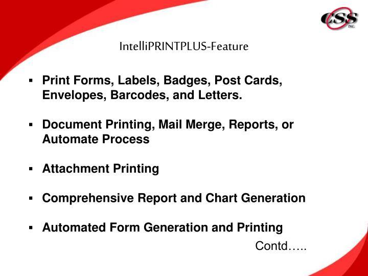 IntelliPRINTPLUS-Feature